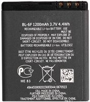 Cheap For Nokia 6788 N78 N79 N95 battery BL-6F BL6F 1200MAh