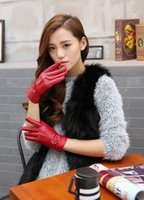 Wholesale Fashion Lady Women s Winter Warm Genuine Lambskin Leather Driving Soft Lining Gloves
