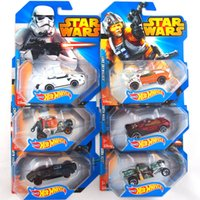 Wholesale New Mixed styles Star Wars cosplay car toys Metal Diecast cars Darth Vader stormtrooper luke Chopper Model Vehicle hotwheels with box C172