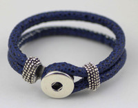 Wholesale NOOSA bracelet Snap Button Cuff leather Bracelet Interchangeable Trend Jewelry DIY Jewelry Accessory hot selling E54L