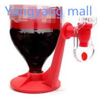 Wholesale Creative Drink Coke Inverted Water Dispenser Tap Drink inversion device distributor red