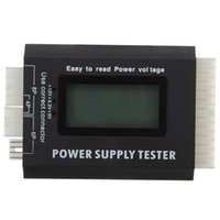 Wholesale Testing Equipment Digital Meter LCD PC Computer Power Supply Tester Pin PSU ATX BTX ITX SATA HDD