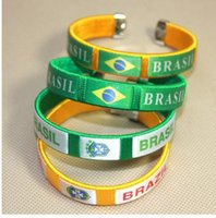 Wholesale Brazilian football in cheerleaders bangle bracelet fans the United States Britain Argentina Canada s national souvenirs
