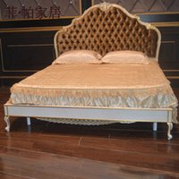 antique furniture - Furniture bed classic hand carved bedroom Italian luxury furniture French wood antique bed antique hand carved bedroom furniture bed