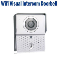Wholesale WIFI Visual Wireless Doorbell IP Intercom Door Phone Video Picture Real Time Night Vision Supports iOS Android Apps