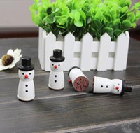 Wholesale Cute Wooden Snowman Stamp Snowflake Gift Scrapbooking Card Making Craft DIY