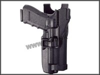 Cheap Wholesale-Blackhawk Level 3 Holster With Flashlight pistol holster for glock free shipping