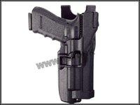 Cheap Wholesale-Blackhawk Level 3 Holster With Flashlight pistol holster for glock free shipping