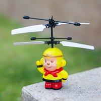 al por mayor volar mono de juguete-Factory Outlets Nueva RC Helicóptero Flying Monkey OVNI Suspensión Ojos Juguetes El Niño amor's Monkey King Best Regalos
