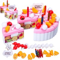 Wholesale Girls play house toys Kitchen Set fruit birthday cake honestly Music Factory Direct baby girl toy