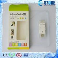 Wholesale i Flash Driver HD U dick Lightning data for iPhone iPad iPod Micro USB Interface Flash Drive for PC MAC Support G G G Card