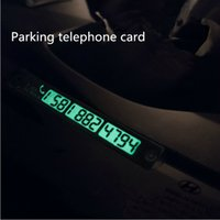 Wholesale New Car Parking Notification Phone Number Card Luminous Telephone Number Metallic Plate for Vehicle Interior Gold Silver