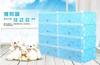 Wholesale F13544 Generic Environmental Multifunctional Dustproof Storage Shoe Rack Cabinet Household Goods Blue Black Color