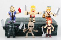 archer gifts - 2016 Clash of Clans PVC Doll Figure King Archer Queen Model Toys Christmas Gift CM set