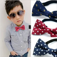 Wholesale 2016 HOT Formal commercial kids bow tie solid color bow ties for boy children accessories butterfly cravat bowtie butterflies A0118