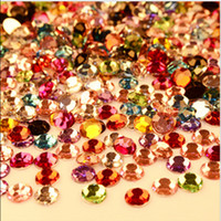 hot-fix for rhinestone - Mixed Colors and Mix Size bag Resin Non Hot Fix Rhinestone For Nail Art Loose Rhinestones Without Glue Decoration