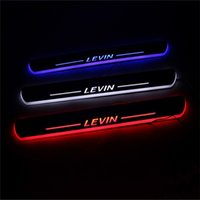 Wholesale 2016 New V LED Moving Door Scuff Door Sill Plate Welcome Pedal For Toyota Levin