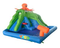 water park games - Hot selling residential octopus inflatable water slide park swimming pool toys game with cannons