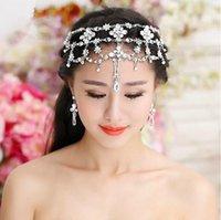 Wholesale 2015 New Fashion Wedding Bridal Crystal Rhinestone Flowers Headpieces Headband Crowns Tiara Hair Accessories Ornament Necklace Jewelry Set