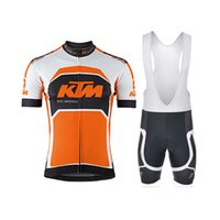 Wholesale 2015 KTM Cycling jersey Short Sleeve Clothing Set Bicycle Men Wear Suit Jersey Bib Shorts black white orange