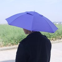 umbrella hat - cm Umbrella Hat Sun Protection Rain Umbrella Head Hat Golf Fishing Camping Headwear Cap Umbrella Wearing