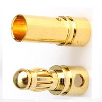 Wholesale 40x mm Gold plated Bullet Banana Plug Connector RC Battery