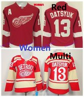 best detroit - Womens Detroit Red Wings Hockey Jerseys Pavel Datsyuk Womens Jerseys With A Patch Embroidery logos Best Quality