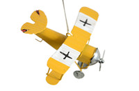 Wholesale 3pc Vintage Metal Plane Model Iron Retro Aircraft Glider Biplane Aeromodelo Pendant Airplane Model Toy Home Christmas Decoration