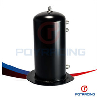 Wholesale PQY STORE BLACK Liter Alloy Dome Fuel Surge Tank Swirl Pot AN6 In AN8 Out Aluminum PQY TK16
