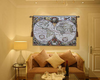 arrival map - New Arrival Exquisite tapestry Ancient Map Tapestry Cotton Jacquard Tapestry