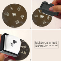 Wholesale 1Pc New Image pattern Plate Stamper Scraper Set for Nail Art Stamping Plate Rubber Nail Art Accessory Manicure Tool W2167