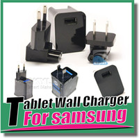 Wholesale For Samsung Tablet Wall Travel Charger Power Adapter Plug US EU Version For SAMSUNG GALAXY TAB P3200 P5200 T530 T230 T330 TABLET PC