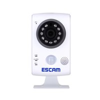 audio network cards - ESCAM H P MPWireless Day Night Wifi Network Surveillance P2P IP Camera with Two Way Audio Built in PIR Sensor Support TF card