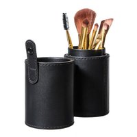 accessories artists - Makeup Tools Accessories Makeup Brushes Tools Travel Black Leather Brush Empty Holder Makeup Artist Bag Match Your Own Brushes Make