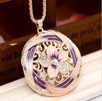 bauhinia crystal gifts - Bauhinia Pendant Necklace k Gold Plated Colorful Crystal Flower Necklace Women s Fasion Jewelry With