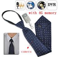 Wholesale Mini camera Hidden G necktie Camera Mini Camcorder audio video recorder mini spy camera DVR with remote control Detection