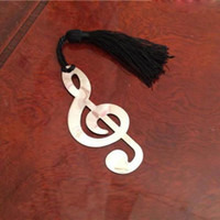 Wholesale Music Note Alloy Bookmark Novelty Ducument Book Marker Label Stationery Exquisite Gift Book mark New