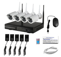 Wholesale 4CH HD Wireless NVR Kits Waterproof P WiFi IP bullet cameras kits plug and play support P2P function