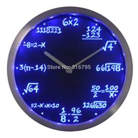 algebra mathematics - nc0461 Math Class Algebra Formula Mathematics Teacher gift Neon LED Wall Clock