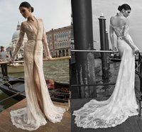 western dresses - 2015 Wedding Dresses Vintage inbal dror Long Sleeve Wedding Gowns Plus Size Custom Made Backless Bridal Gowns Sexy China Western Country