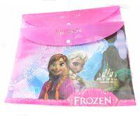 Wholesale DHL School Stationery PVC Bag File Pocket Frozen Elsa Anna Spiderman Cars Snow White Study Supplies Plastic Document Pouch Bag Christmas