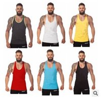 Wholesale new fashion Summer Stly Cotton Tank Top Bodybuilding Clothings Fitness Shirt Muscle Sports Vests