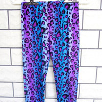 Wholesale Cheap price summer new pants for women K145 eon color sexy leopard print stretchy thin leggings and retail