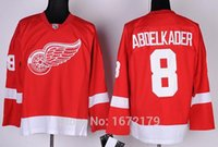 abdelkader shirt - Factory Outlet HIGH QUALITY DETROIT RED WINGS JERSEY JUSTIN ABDELKADER RED HOME PREMIER STITCHED MENS ICE HOCKEY SHIRT