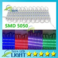 Wholesale SMD5050 LED Modules Waterproof IP65 DC V W Leds Sign Led Backlights For Channel Letters Warm Cool White Red Blue lighting