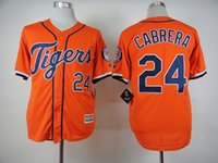 authentic tigers jersey - Baseball Jerseys Miguel Cabrera Orange Jersey Detroit Tigers Authentic Stitched Cool Base White Grey Jersey
