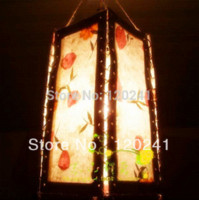 Wholesale Wholesales Pure Natural Manual Fabricated Lamp shade for Household Bars and Other Decoration Chinese Lantern Style