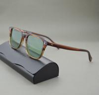 Des lunettes de soleil en gros-Best de haute qualité et le prix des lunettes de soleil Oliver Peoples NDG homme et femmes des lunettes de soleil unisexes vintage avec couleur