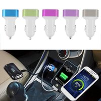 Wholesale 1pcs A Port Car USB Charger Aluminum Alloy Protable Mini Mobile Phone Charger for iPhone S Samsung Galaxy