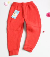 Wholesale baby cotton autumn winter woolen knitted bottom Pants year old suitable